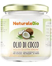 Olio di Cocco Biologico Extra Vergine 200 ml | Crudo e Spremuto a Freddo | Organico e Puro al 100% | Ideale sui Capelli, sul Corpo e ad Uso Alimentare | Olio di Cocco Bio Nativo e non Raffinato