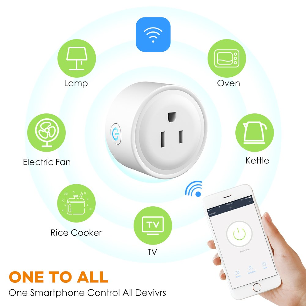 WiFi Smart Plug Mini Outlet, Works with Amazon Alexa Echo, Google Assistant, Support IFTTT (White) (1 Pack) by EECOO (Image #5)