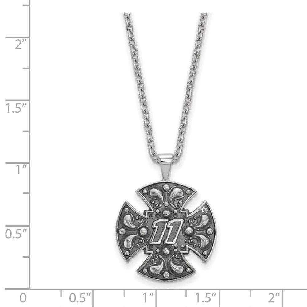 21mm x 18mm Solid 925 Sterling Silver Bali Maltese CROSolid 925 Sterling Silver 11 with Chain
