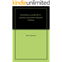 PIAZZOLLA ALBUM N.1: partituras para piano (Spanish Edition) book cover