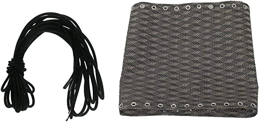 FLAMEER 4 Piezas Lazos Cordones Elásticos + 1 Pieza Paño Tela Durable para Silla Reclinable de Jardín Recambio de Accesorios - A: Amazon.es: Jardín