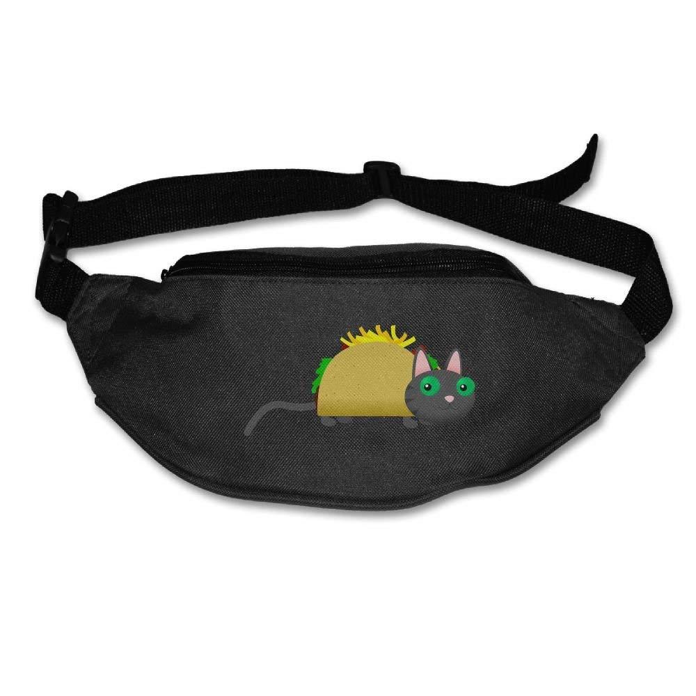 Waist Purse Lovely Taco Cat Unisex Outdoor Sports Pouch Fitness Runners Waist Bags