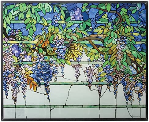 Amazon.com: Tiffany Wisteria Art Panel de vidrio 14: Home ...
