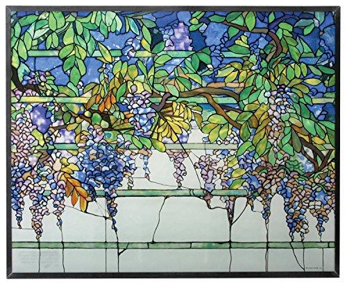 Tiffany Wisteria Art Glass Panel -