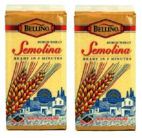 Bellino Durum Wheat Semolina (1 lb, 1.6 oz Bricks) 2 Pack