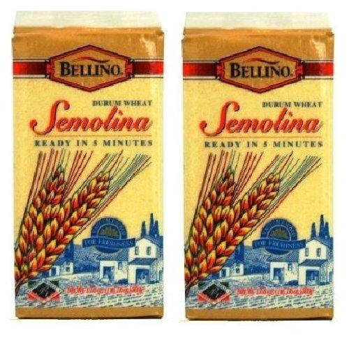 (Bellino Durum Wheat Semolina (1 lb, 1.6 oz Bricks) 2 Pack)