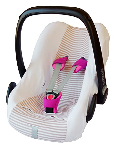 ByBoom® – Bezug Sommer/Schutzbezug 100% Baumwolle, Universal Bezug für Babyschale, Autokindersitz, z.B. für Maxi-Cosi CabrioF