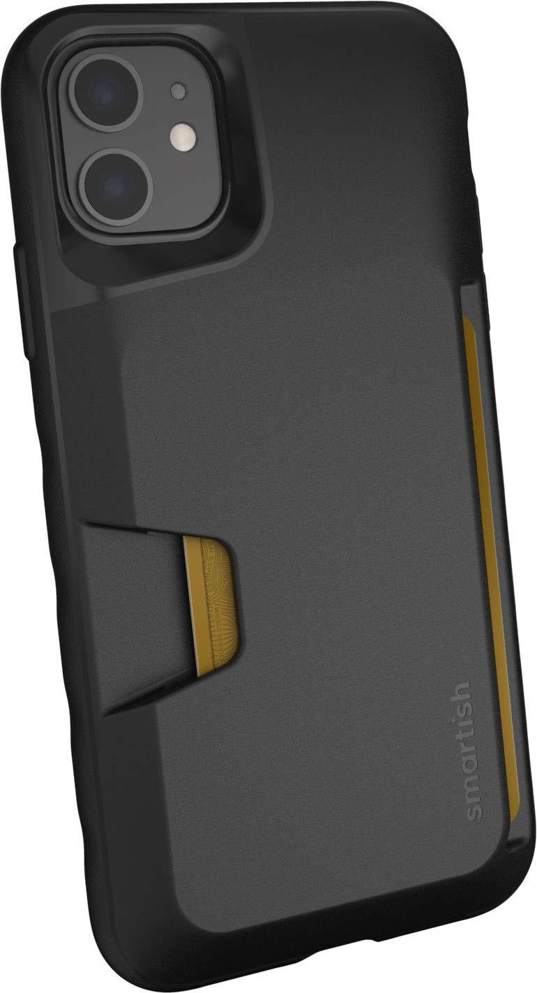 Smartish iPhone 11 Wallet Case - Wallet Slayer Vol. 1 [Slim + Protective] Credit Card Holder (Silk) - Black Tie Affair