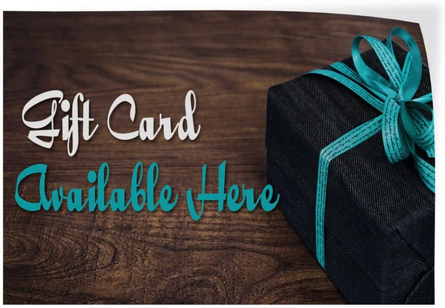 Decal Sticker Multiple Sizes Cards /& Gifts are Available Business Gifts Cards Outdoor Store Sign Aqua-Blue 14inx10in Set of 10