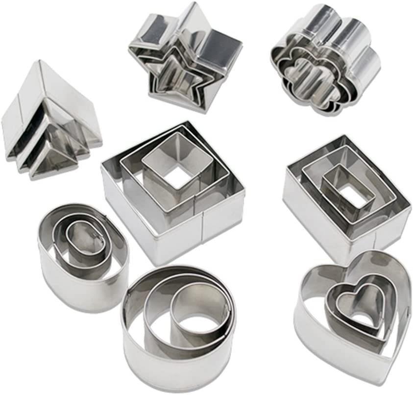Homy Feel Mini Geometric Shaped Cookie Biscuit Cutter