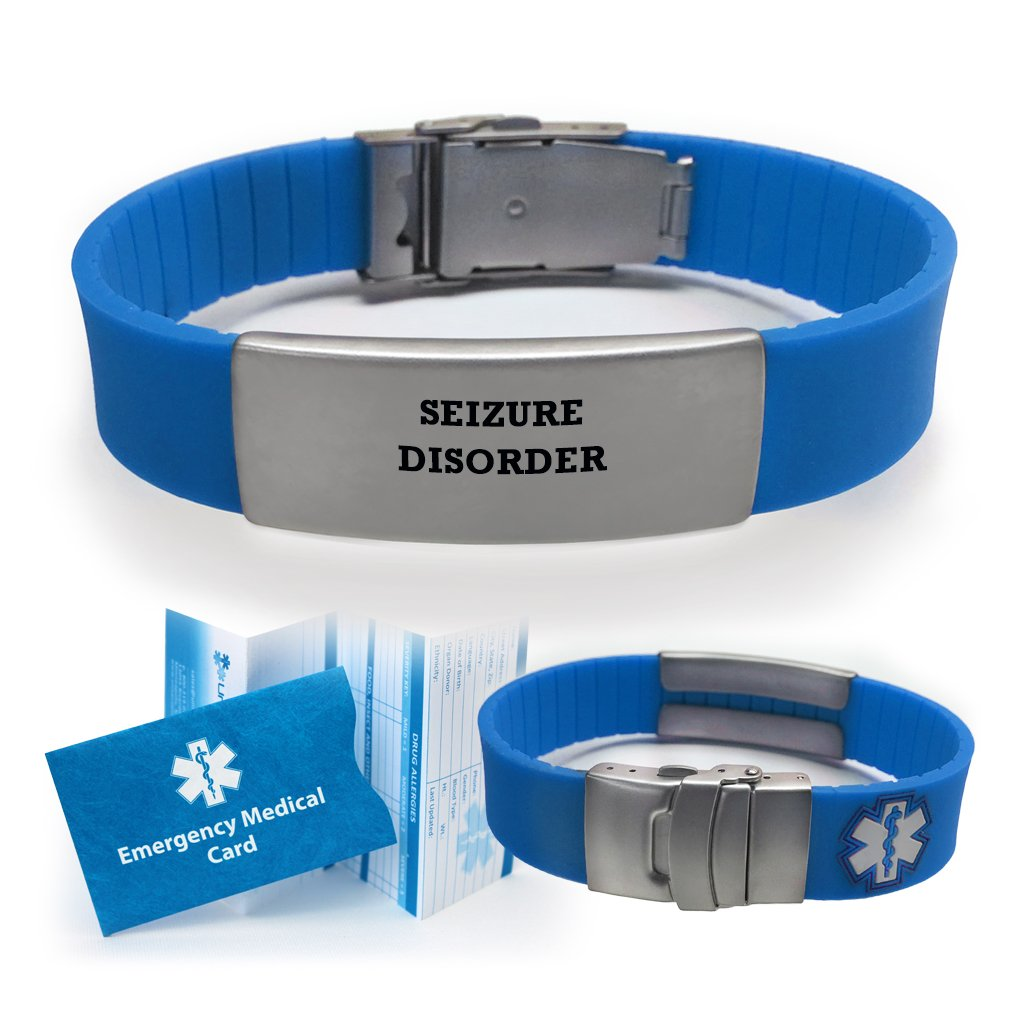 com bracelet walmart seizure medical id stainless seizures traditional alert for steel men ip