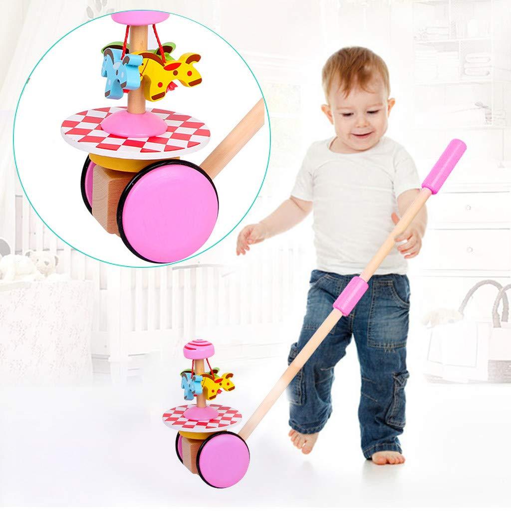 【超お買い得!】 AMOFINY Toys 木製 Toys ベビーウォーキング シングルポール スパイラルトロリー B07N4B6SYZ 早期教育玩具 クリエイティブ Pink 木製 ベビーウォーク シングルロッド スパイラルトロリー 学習教育玩具カート Pink AMOFINY--20129 Pink B07N4B6SYZ, blueowl:acb5a00e --- fenixevent.ee