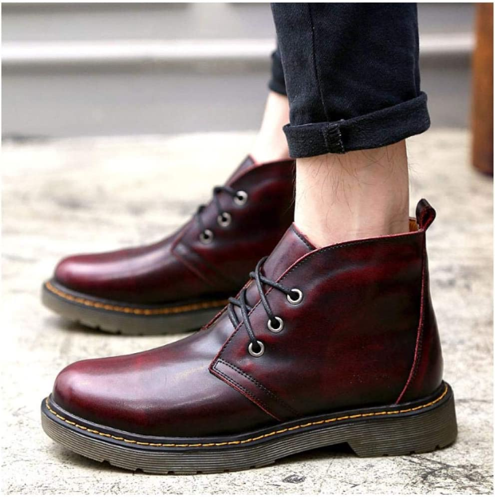 WAXFAS Boots Fashion Trend Handmade Leather Men's Leather New Casual Men's Shoes Autumn and Winter Fashion 44