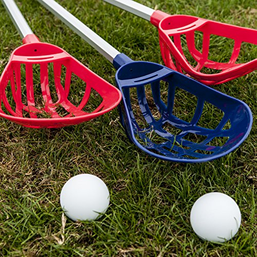 Champion Sports Soft Lacrosse Set: Training Equipment for Boys, Girls, Kids, Youth and Amateur Athletes - 12 Aluminum Sticks and 6 Vinyl Balls for Indoor Outdoor Use by Champion Sports (Image #7)'