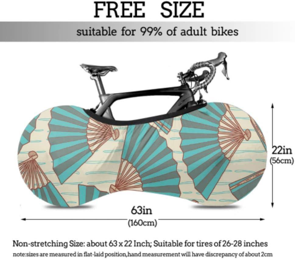antipolvo lavable funda el/ástica para bicicleta paquete de neum/ático compatible con la mayor/ía de bicicletas Dumcuw Cubierta para rueda de bicicleta mantiene suelos y paredes libres de suciedad