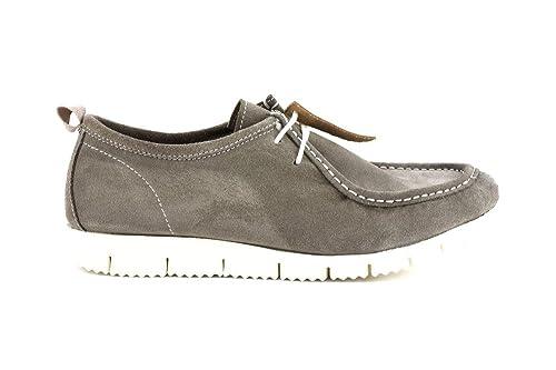 CAFèNOIR Caf Noir OQS604 Zapatos Mocasines de Gamuza Marrón con Cordones de Hombre: Amazon.es: Zapatos y complementos