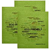 SWEDEdishcloths Swedish Dishcloth by Set of 3 each Swedish Dishcloths ECO Wordcloud on Green Design | Eco Friendly Cleaning Absorbent Cloth Eco Friendly Cleaning Wipes