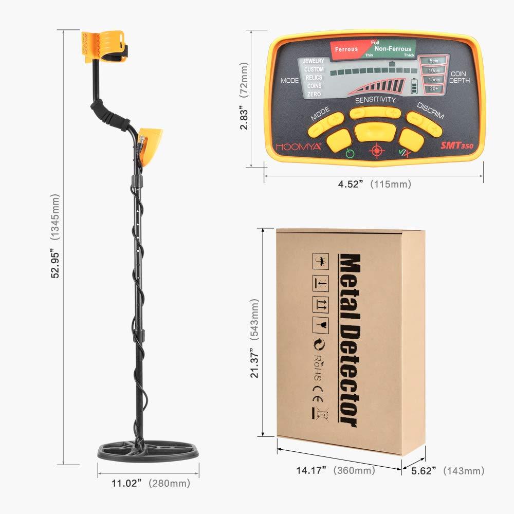 MIDOU Impermeable 6350 Detector de metales con pantalla LCD El cazador de tesoros detecta todos los metales: Amazon.es: Jardín
