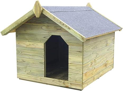 mewmewcat Casas de Perros para Jardín Caseta de Exterior para Perros Apertura de Techo Impermeable y Resistente Intemperie y Putrefacción 85x103,5x72cm Verde: Amazon.es: Deportes y aire libre
