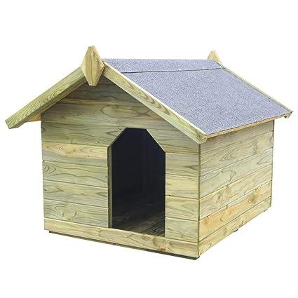 Tidyard Casas de Perros para Jardín,Caseta de Exterior para Perros,Apertura de Techo