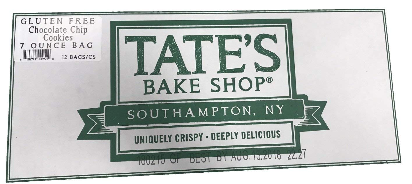 Tate's Bake Shop Gluten Free Cookies, Chocolate Chip, 12 Count (Pack of 12) by Tate's Bake Shop