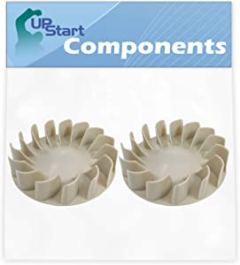 2 Pack 694089 Dryer Blower Wheel Replacement for Whirlpool Wed4815ew1, Maytag Medc215ew1, Maytag Medx655dw1, Amana Ned4600yq1, Whirlpool Wed5000dw2, Whirlpool Wed5300sq0, Whirlpool Wed4800bq1