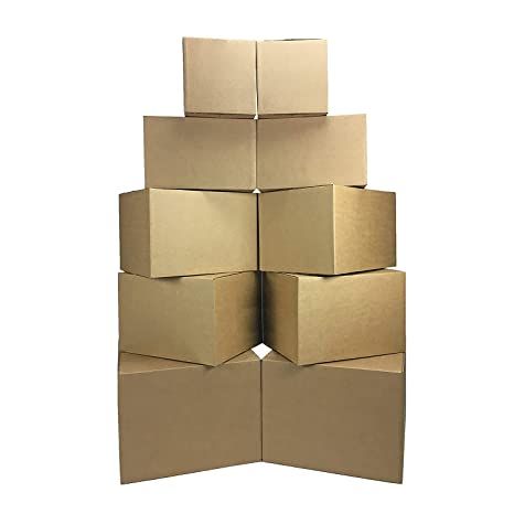 amazon com uboxes moving boxes medium 18x14x12 inches pack of 10