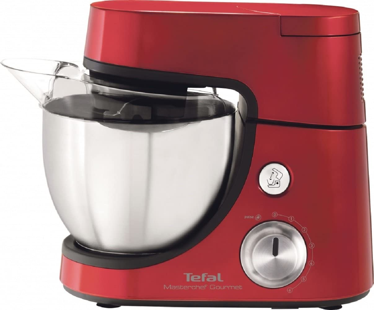 Tefal QB504G 900W 4.6L Rojo - Robot de cocina (4,6 L, Rojo, Giratorio, Acero inoxidable, 900 W): Amazon.es: Hogar