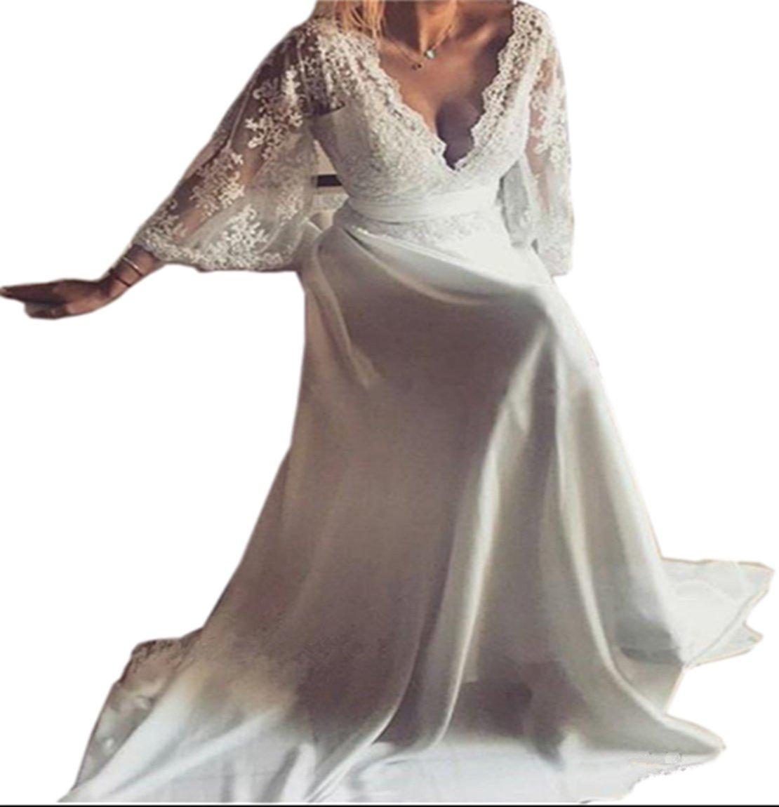 LILLIANTAN Bohemian Wedding Dresses (4, Ivory)