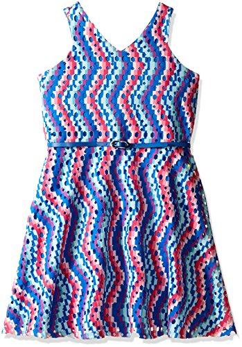 Price comparison product image Blush by Us Angels Big Girls' Dress of Scuba Laser Cut Away a-Line, Royal, 7