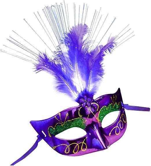 KEBY Máscara Veneciana para Disfraz de Halloween para Mujer con ...