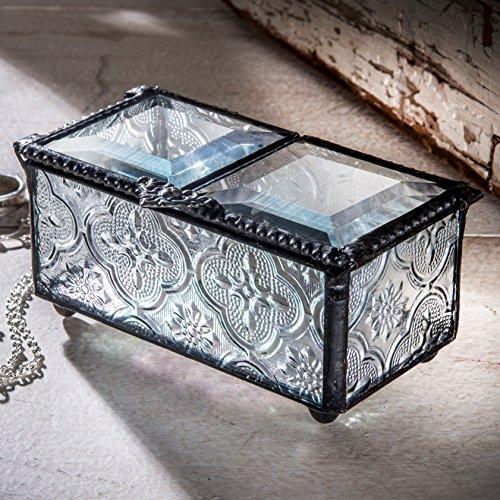 Vintage Glass Trinket Box - 3