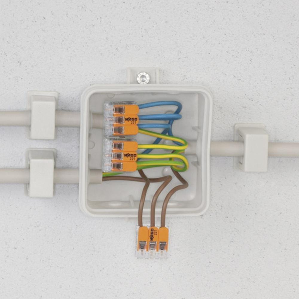 Wago 221-415 25 Stück Verbindungsklemme 5 Leiter mit ...