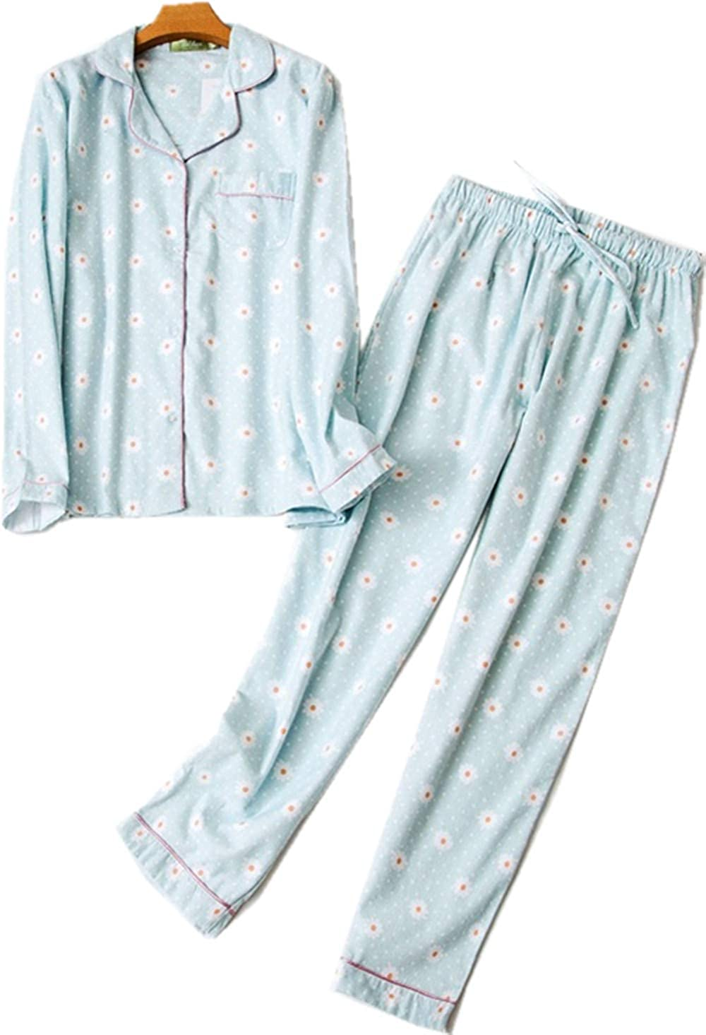 dfb1b1a709 Amazon.com  Women s Cozy Fleece Pajamas Cotton Flannel Pj Set 2-Piece  Sleepwear Long Sleeve Loungewear  Clothing