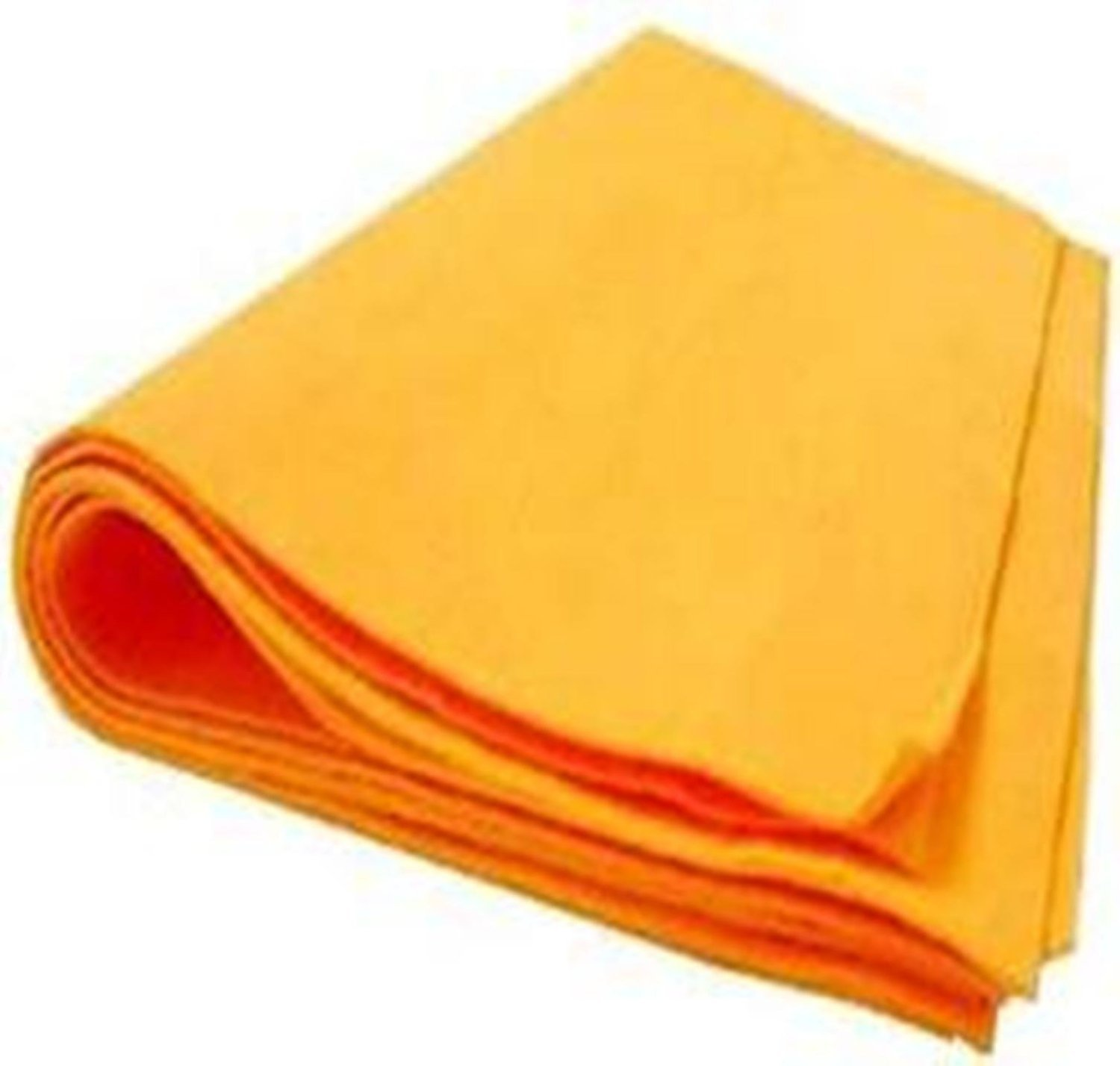 The Newest Original German Shammy - Commercial Grade Drying Chamois (100, Orange (Large)) by The Newest Original German Shammy