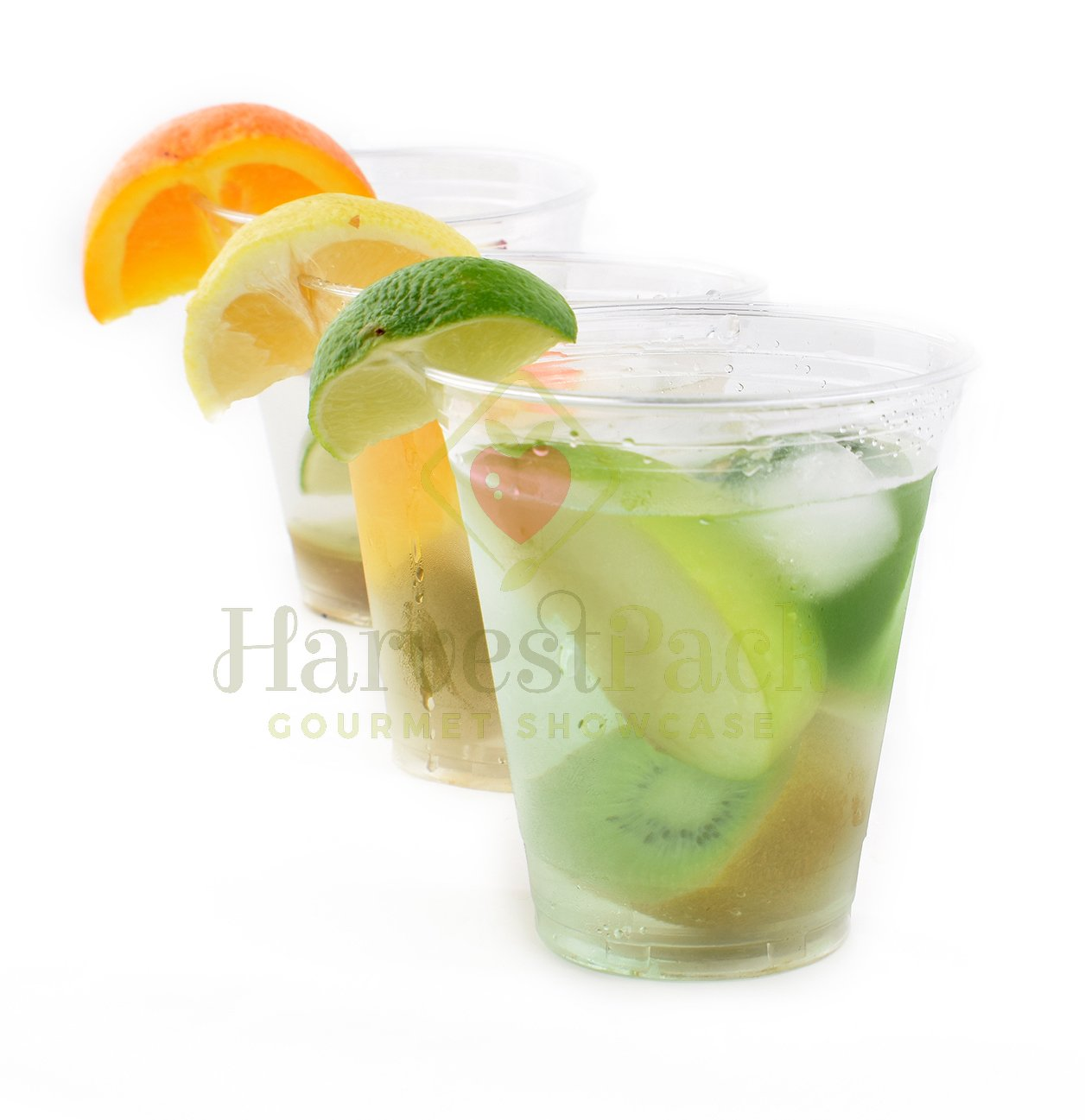 [1000 COUNT] 12oz Clear Plastic Disposable Cups - Premium 12 oz (ounces) Crystal Clear PET Cup (No Lids) for Cold Drinks Iced Coffee Tea Juices Smoothies Slush Soda Cocktails Beer Sundae Kids Safe by Harvest Pack (Image #1)