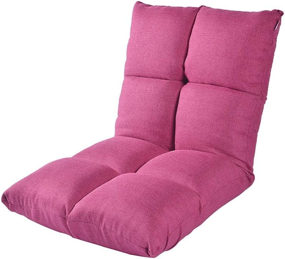 Xiao Tian Portable Multi-Purpose Lazy Single Sofa,Living Room Furniture Recliner (Color : Rose red)
