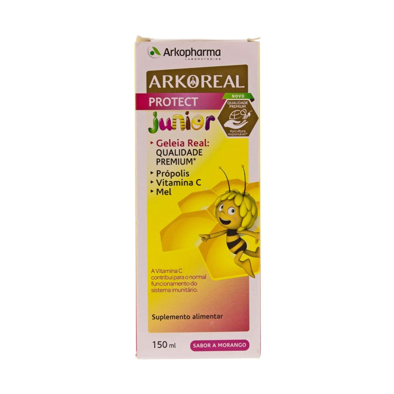 Amazon.com: Arkopharma Arkoreal Royal Jelly Protect Syrup Junior 150ml – Strengthen The Immune System - Premium Quality – Propolis & Vitamin C – Strawberry ...