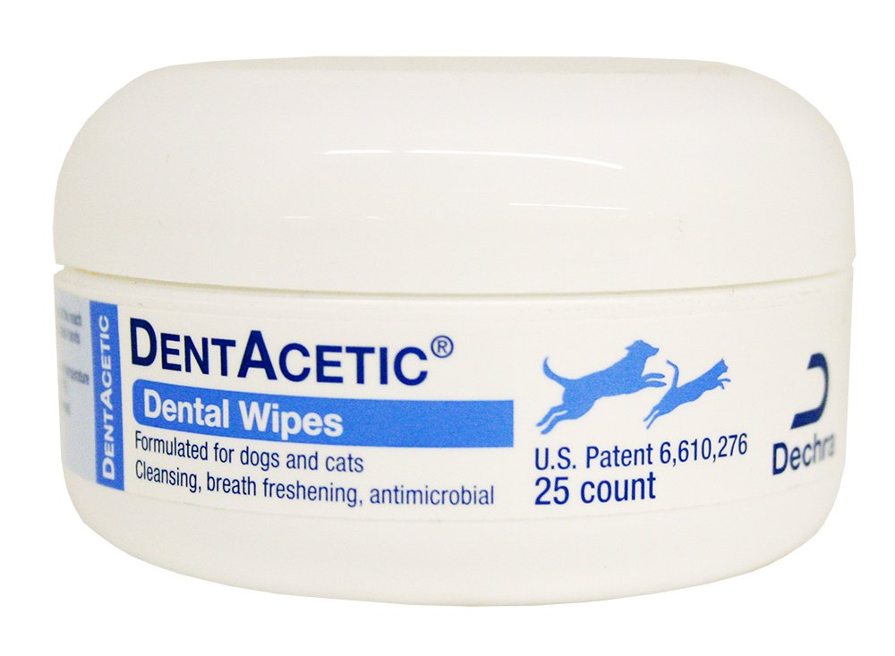 Dechra DentAcetic 25 Count Dental Wipes