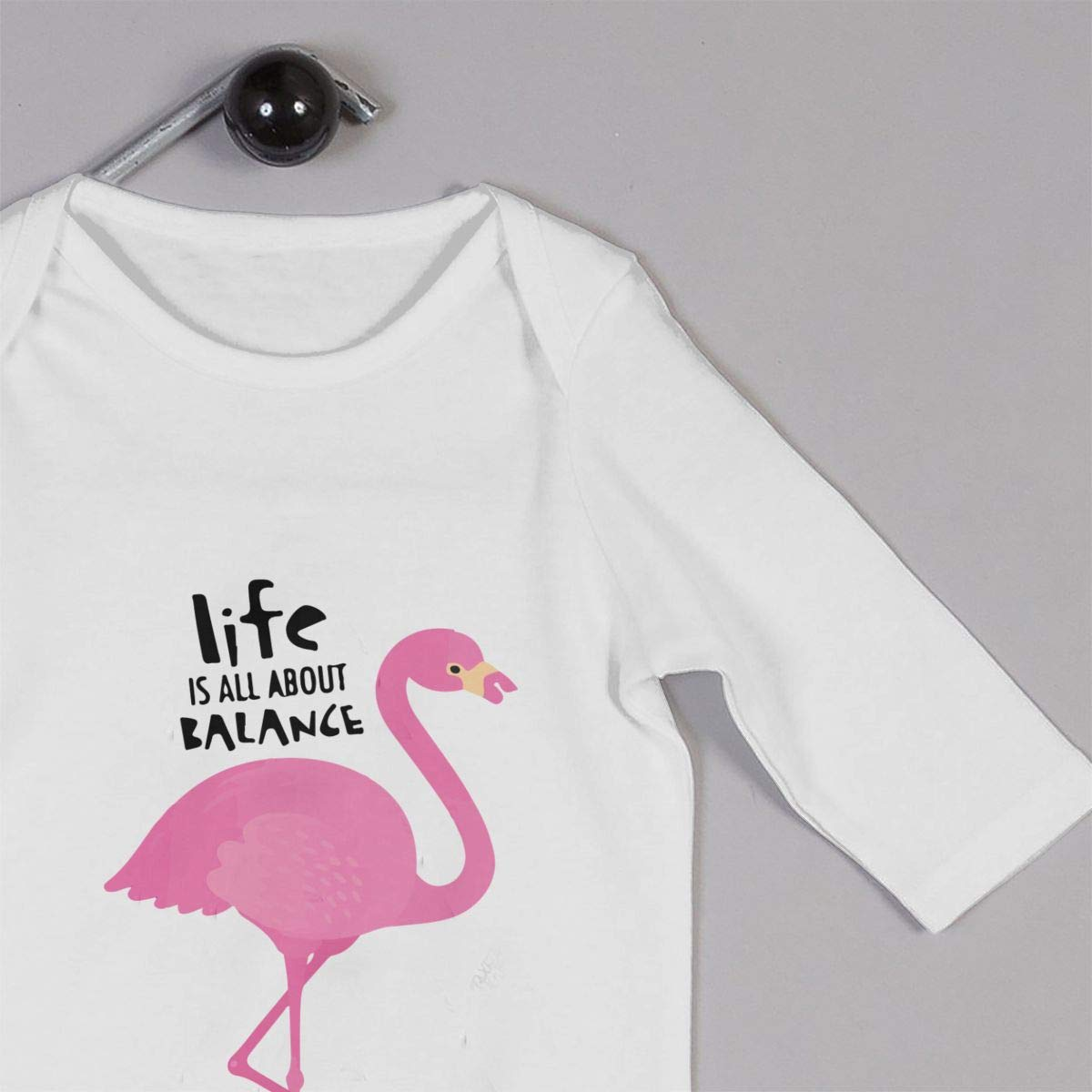 Baby Boy Girl Jumpsuit Flamingo with Skateboard-1 Toddler Jumpsuit