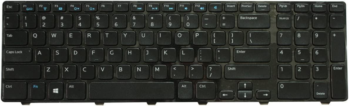 Replacement Keyboard for Dell Inspiron 17-3721 17-3737 17R-5721 17R-5737 Laptop Black