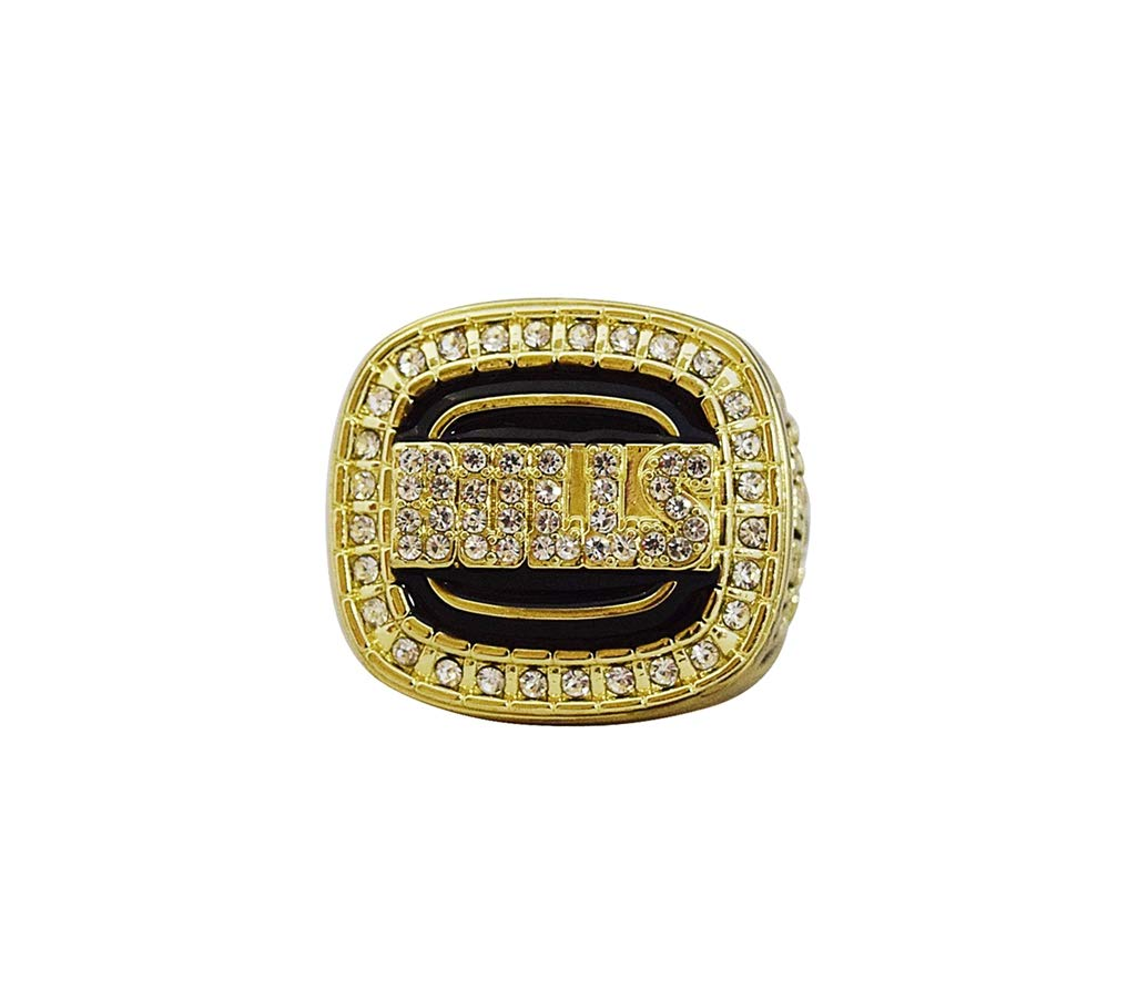 CHICAGO BULLS (Michael Jordan) 1992 NBA FINALS WORLD CHAMPIONS (Back to Back Champs) Vintage Collectible High Quality Replica NBA Basketball Gold Championship Ring with Cherrywood Display Box