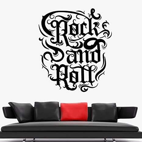 Geiqianjiumai Rock Music Quote Wall Sticker Nightclub ...