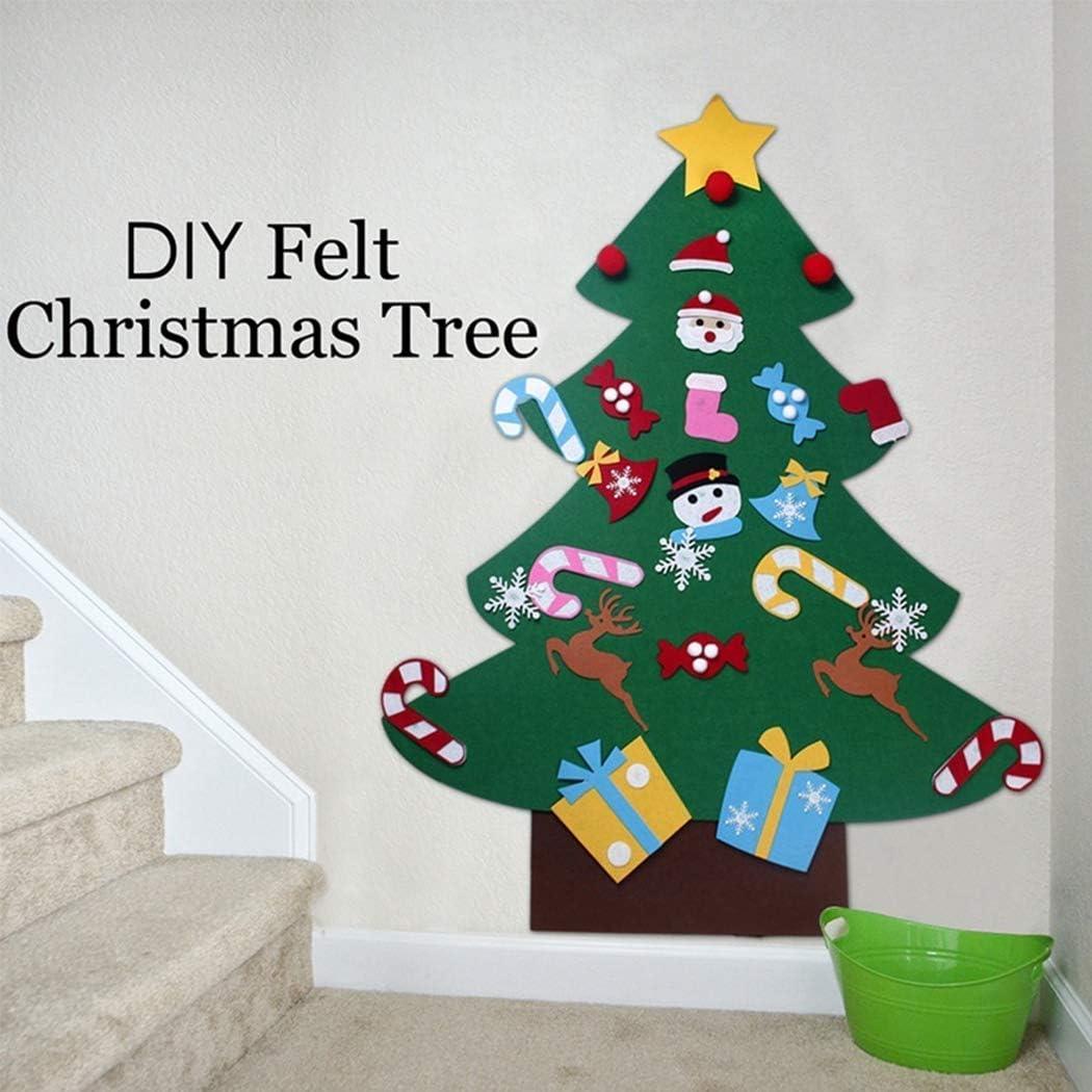 Awaqi DIY Felt Christmas Tree Bulk Ornaments Xmas Gifts Novelty for Kids and Adults Handmade Christmas Door Wall Decor Decor Hanging Decorations Home Decorations 26 Pecs Ornaments