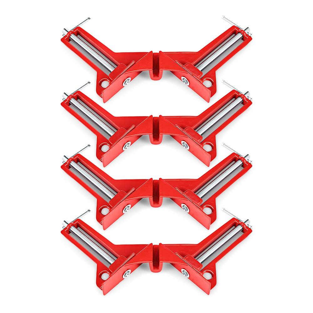 Woodworking Corner Clamp Set for Picture Photo Frame Subtop 4 Pcs Zinc Alloy 90 Degree Right Angle Clamp