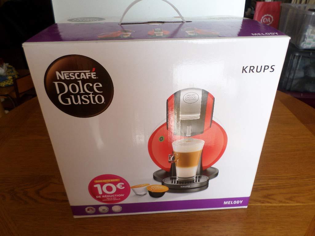 Krups yy1602fd Nescafé Dolce Gusto Melody cafetera de cápsula de café rojo: Amazon.es: Hogar