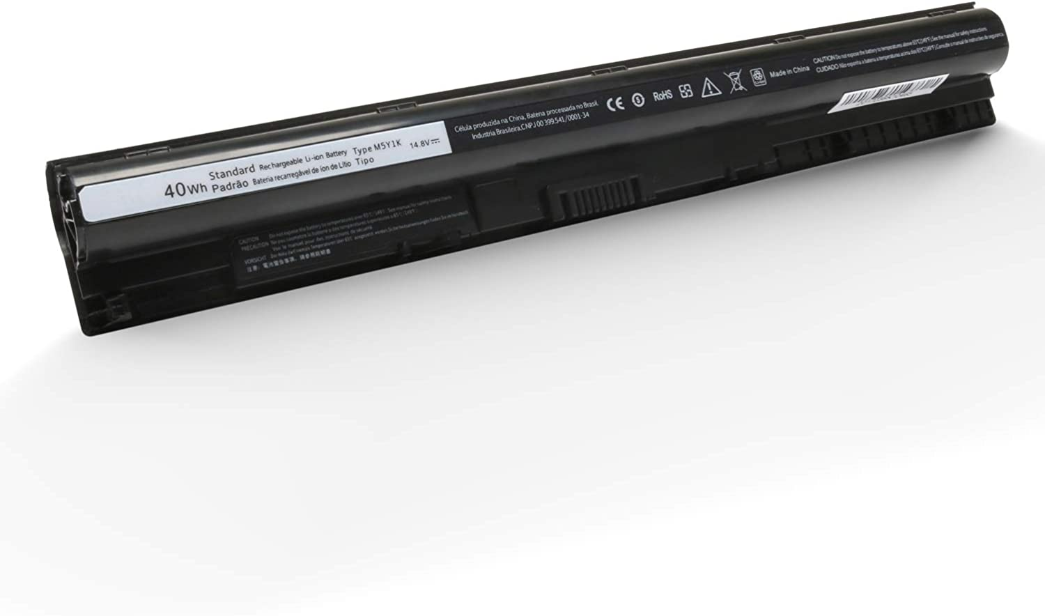 New M5Y1K Laptop Battery for Dell Inspiron 14 15 3000 5000 Series 3451 3458 3551 5451 5458 5558 5559 5758 Vostro 3458 3459 3468 3558 Series Fits 6YFVW VN3N0 GXVJ3 W6D4J HD4J0 [14.8V 40wh 2600mAh]