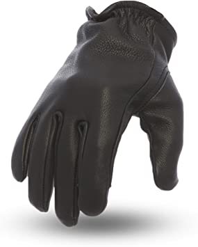 First Mfg Co Mens Roper Leather Motorcycle Touch Tech Finger Gloves Whiskey Small