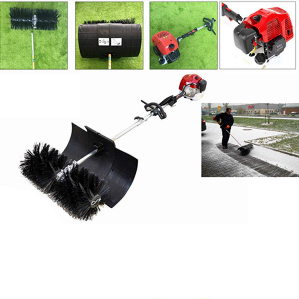 Sweeper Machine, 52CC Walk Behind Cleaning Machine Hand Held Broom Sweeper 2.3HP Gas Powered Sweeper Broom Hand Held for Concrete Driveway Lawn Garden, 2-Strock, 52cc by Eapmic