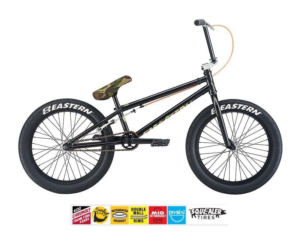 Eastern要素BMXバイク2017自転車ブラック/カモ B077YYT8ZG